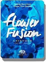 Parfumuri și produse cosmetice Mască calmantă din țesătură cu lavandă pentru față - Origins Flower Fusion Lavender Soothing Sheet Mask
