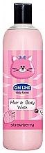 """Parfumuri și produse cosmetice Gel de duș """"Căpșună"""" - On Line Kids Time Hair & Body Wash Strawberry"""