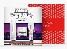 "Parfumuri și produse cosmetice Set - Transparent Clinic ""City Defense"" (micelar/water/200ml + f/cream/50ml + sun/cream/75ml)"