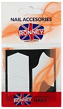 Parfumuri și produse cosmetice Șabloane pentru manichiură franceză - Ronney Professional