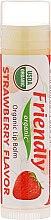 """Parfumuri și produse cosmetice Balsam de buze """"Căpșună"""" - Friendly Organic Lip Balm Strawberry"""