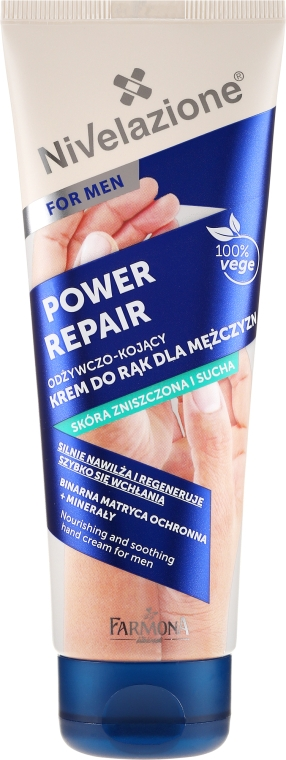 Cremă de mâini - Farmona Nivelazione Power Repair Nourishing And Soothing Hand Cream For Men