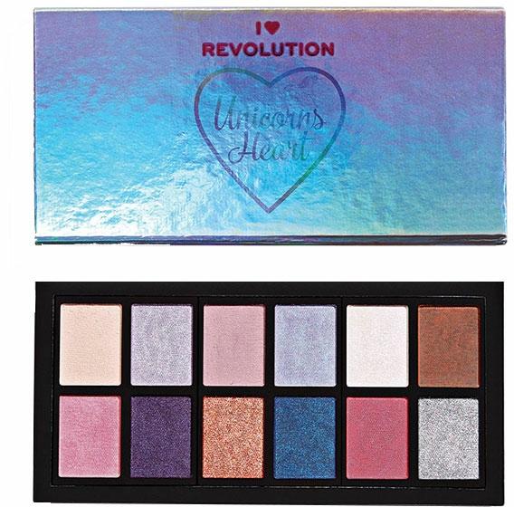 Paletă de farduri - I Heart Revolution Unicorns Heart Eyeshadow Palette