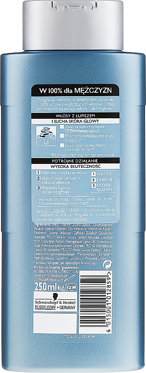 Șampon anti-mătreață - Schwarzkopf Men ZinkPT Anti-Schuppen Shampoo — Imagine N2