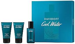Parfumuri și produse cosmetice Davidoff Cool Water - Set (edt/40 ml + sh/gel/50 ml + ash/balm/50 ml)