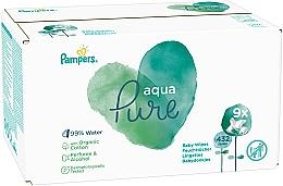 Parfumuri și produse cosmetice Șervețele umede pentru copii, 9x48 buc - Pampers Aqua Pure Wipes