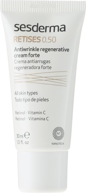 Cremă antirid regenerantă cu acțiune intensificată - SesDerma Laboratories Retises 0.50% Antiwrinkle Regenerative Cream Forte — Imagine N2