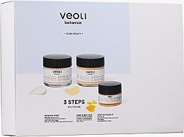 Parfumuri și produse cosmetice Set - Veoli Botanica 3 Steps Daily Routine (f/cr/60ml + f/cr/60ml + eye/cr/15ml)