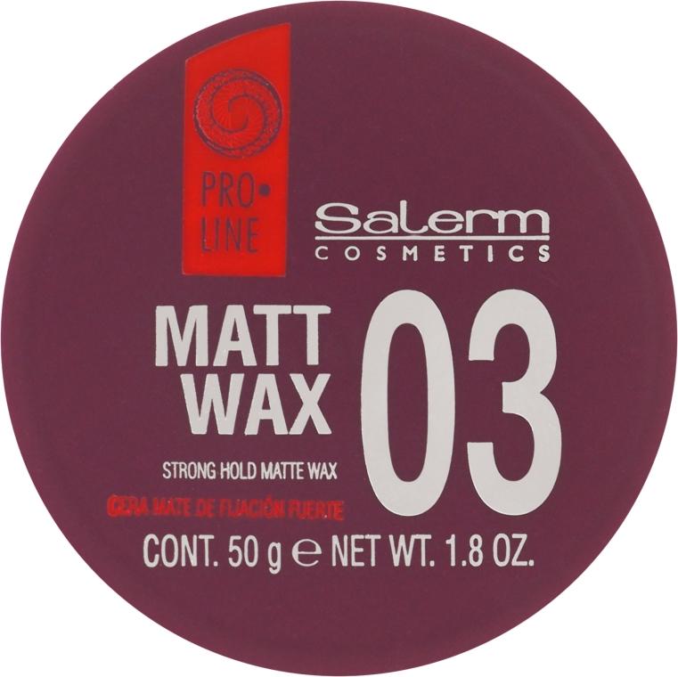 Ceară de păr - Salerm Matt Wax — Imagine N2
