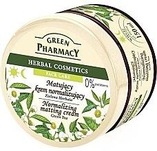 """Parfumuri și produse cosmetice Cremă cu efect matifiant pentru față """"Ceai verde"""" - Green Pharmacy Normalizing Matting Cream"""