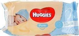 Parfumuri și produse cosmetice Șervețele umede pentru copii, Pure 56 bucăți - Huggies