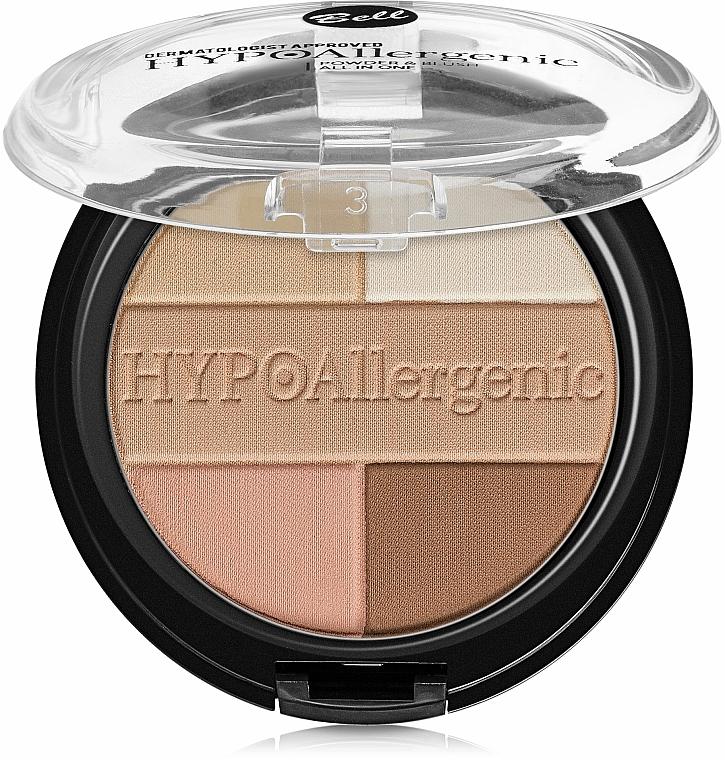 Pudră hipoalergenică cu fard de obraz - Bell HypoAllergenic Powder&Blush — Imagine N1