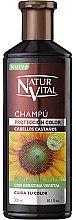 Parfumuri și produse cosmetice Șampon pentru menținerea culorii - Natur Vital Coloursafe Henna Colour Shampoo Chestnut Hair