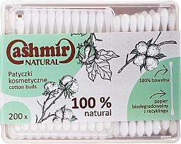 Parfumuri și produse cosmetice Bețișoare din bumbac, 200 buc - Cashmir Natural Cotton Buds (în cutie)