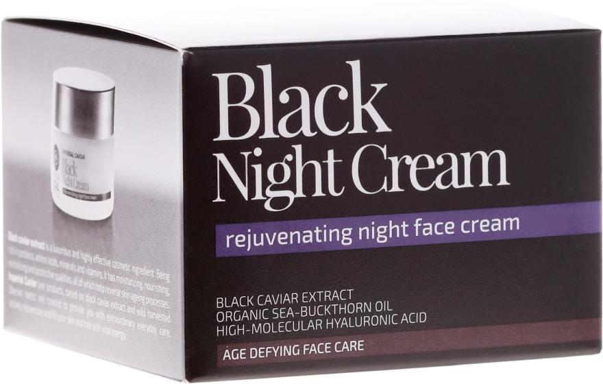 """Cremă de noapte pentru față """"Noaptea Neagră"""" - Natura Siberica Fresh Spa Imperial Caviar Black Night Cream"""