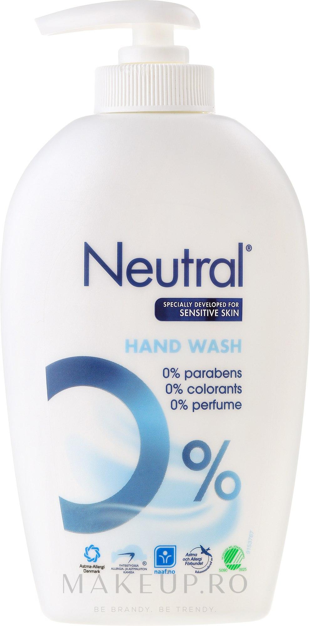 Săpun lichid - Neutral 0% Hand Wash — Imagine 250 ml