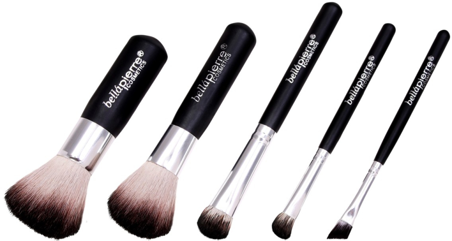 Set pensule pentru machiaj - Bellapierre 5 Pcs Travel Brush Set — Imagine N2