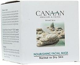 Parfumuri și produse cosmetice Mască nutritivă pentru ten normal și uscat - Canaan Minerals & Herbs Nourishing Facial Mask Normal to Dry Skin
