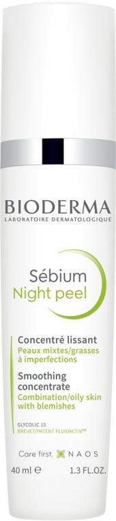 Concentrat cu efect de netezire pentru față - Bioderma Sebium Night Peel Smoothing Concentrate — Imagine N2