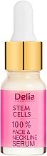 Parfumuri și produse cosmetice Ser antirid cu acid-hialuronic și celule stem pentru față și gât - Delia Face Care Stem Sells Face Neckline Intensive Serum