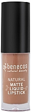 Parfumuri și produse cosmetice Ruj lichid mat - Benecos Natural Matte Liquid Lipstick