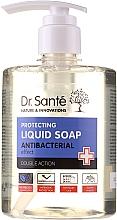 """Parfumuri și produse cosmetice Săpun antibacterian pentru mâini """"Arbore de ceai și lavandă"""" - Dr. Sante Antibacterial Liquid Soap Double Action"""