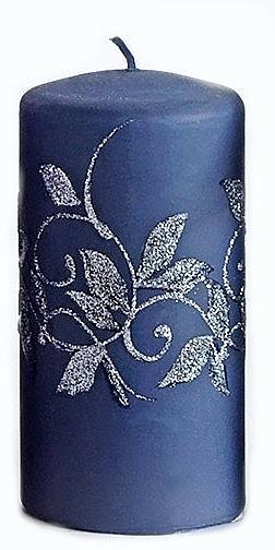 Lumânare decorativă, albastru închis, 7x14 cm - Artman Amelia — Imagine N1