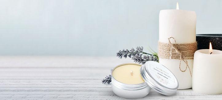 Reducere 20% la lumânările naturale pentru masaj Almond Cosmetics. Prețurile pe site sunt prezentate cu reduceri