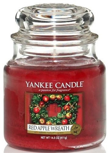 Lumânare aromată - Yankee Candle Red Apple Wreath