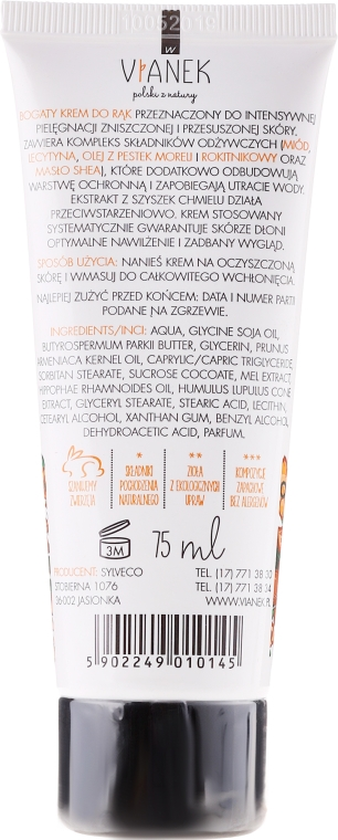 Cremă de mâini - Vianek Hand Cream — Imagine N2