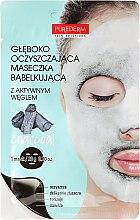 Parfumuri și produse cosmetice Mască de oxigen pentru față - Purederm Deep Purifying Black O2 Bubble Mask Charcoal