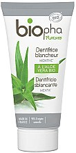 Parfumuri și produse cosmetice Pastă de dinți pentru albire, cu mentol - Biopha Nature Toothpaste Menthe