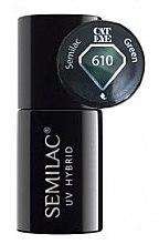 """Parfumuri și produse cosmetice Gel lac de unghii """"Ochi de pisică"""" - Semilac UV Hybrid Cat Eye"""