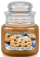 Parfumuri și produse cosmetice Lumânare aromată în suport de steclă - Country Candle Chocolate Chip Cookie