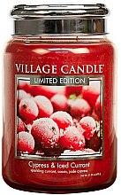 Lumânare aromată - Village Candle Cypress & Iced Currant Glass Jar — Imagine N1