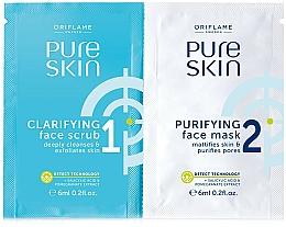 Parfumuri și produse cosmetice Exfoliant şi Mască purificatoare pentru faţă - Oriflame Pure Skin Face Scrub & Mask