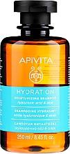 Parfumuri și produse cosmetice Șampon hidratant cu acid hialuronic și aloe - Apivita Moisturizing Shampoo With Hyaluronic Acid & Aloe