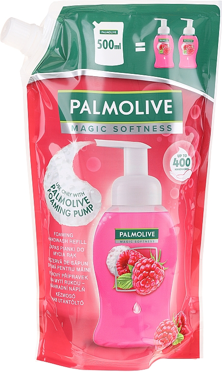 Săpun lichid - Palmolive Magic Softness Raspberry Foaming Handwash (doy-pack)