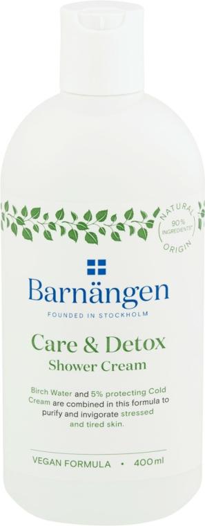"""Cremă-gel pentru duș și baie """"Îngrijire și detoxifiere"""" - Barnangen Care & Detox Shower Cream"""