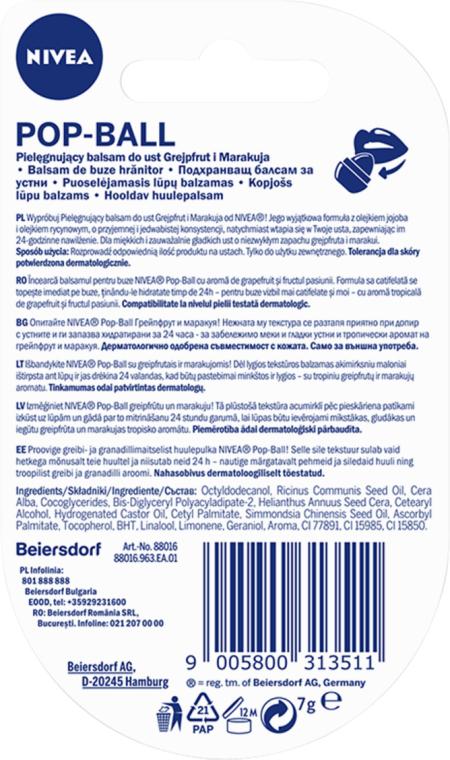 Balsam de buze - Nivea Pop-Ball Grapefruit & Maracuja Lip Balm — Imagine N2