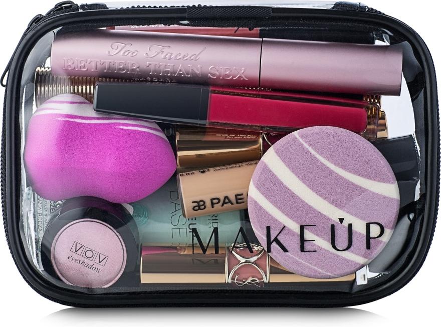 """Trusă cosmetică incoloră """"Visible Bag"""" 15x10x5 cm (fără produse) - MakeUp"""