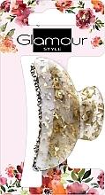 Parfumuri și produse cosmetice Agrafă de păr, 417624, auriu-lăptișor cu pietre - Glamour