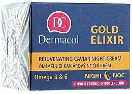 Parfumuri și produse cosmetice Cremă anti-îmbătrânire de noapte - Dermacol Gold Elixir Rejuvenating Caviar Night Cream