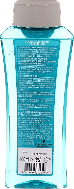 "Șampon de păr ""Strălucire orbitoare"" - Schwarzkopf Gliss Kur Million Gloss — Imagine N2"