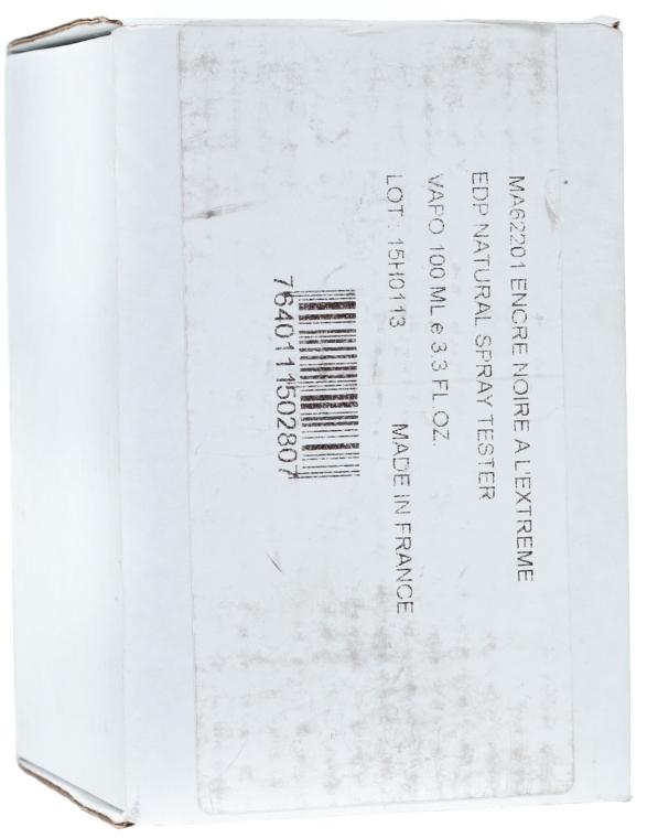 Lalique Encre Noire A L`Extreme - Apă de parfum (tester cu capac) — Imagine N4