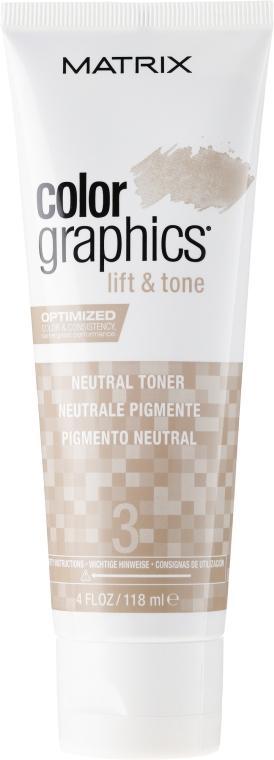 Toner de păr, neutru - Matrix Color Graphics Lift & Tone Neutral Toner — Imagine N1
