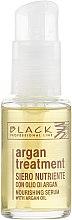 Parfumuri și produse cosmetice Ser cu ulei de argan, keratină și colagen pentru păr - Black Professional Line Argan Treatment Serum