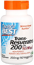 Parfumuri și produse cosmetice Trans-Resveratrol cu extract de ResVinol, 200 mg, capsule - Doctor's Best