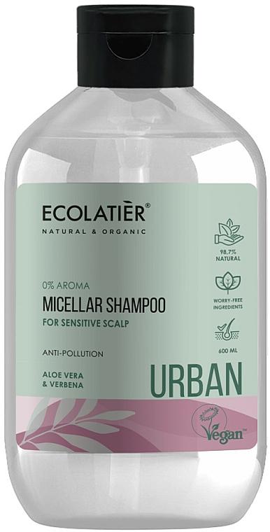 "Șampon micelar pentru scalpul sensibil ""Aloe Vera și Verbena"" - Ecolatier Urban Micellar Shampoo — Imagine N1"