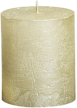 Parfumuri și produse cosmetice Lumânare cilindrică Metallic Ivory, 80/68 mm - Bolsius Candle